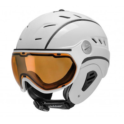 Slokker Bakka Ski helmet White - Photochromic & Polarized Visor (☁/☀/❄)