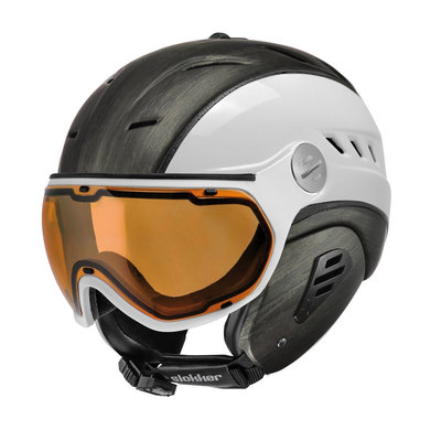 Slokker Bakka Ski helmet White Wood - Photochromic & Polarized Visor (☁/☀/❄)
