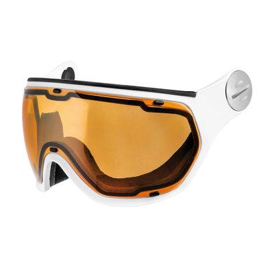 Slokker Ski helmet Visor Photochromic & Polarized (☁/☀/❄) Orange white