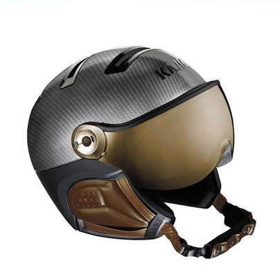 Ski Helmet with Visor Carbon Brown - Kask Elite Photochromic - Photochromic Visor (☀/☁) Cat.2