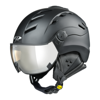Helmet With Visor Black - CP Camurai - Photochromic Mirror Visor (❄/☁/☀)