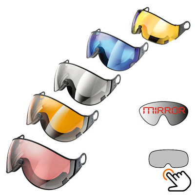CP visor for ski helmet - single lens - for another weather / look - fits Cp helmets