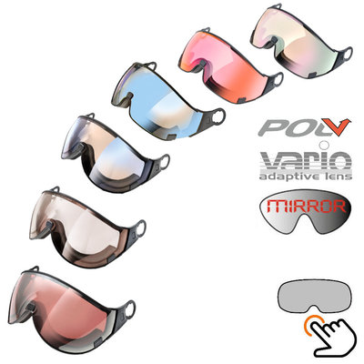 CP ski helmet visor loose photochromic & polarised - fits on all Cp Ski helmets