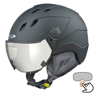 CP Corao+ ski helmet black - single mirror visor (2 Choices) - very safe