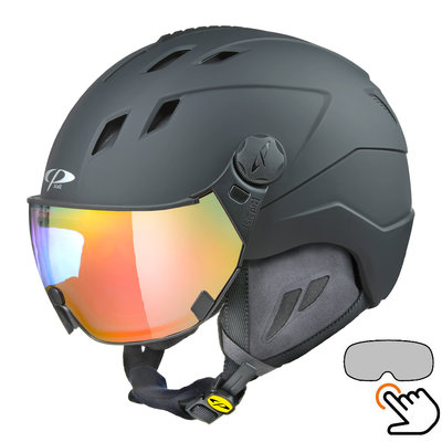 CP Corao+ ski helmet black - photochrome visor (4 Choices) - very safe