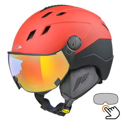 CP Corao+ ski helmet red - single mirror visor (2 Choices) - very safe