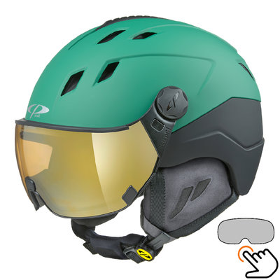 CP Corao+ ski helmet green - photochrome visor (4 Choices) - very safe