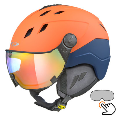 CP Corao+ ski helmet orange - photochrome visor (4 Choices) - very safe
