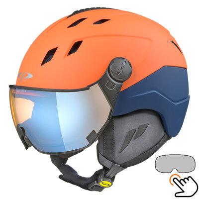 CP Corao+ ski helmet orange - photochrome & polarised visor (3 Choices) - very safe
