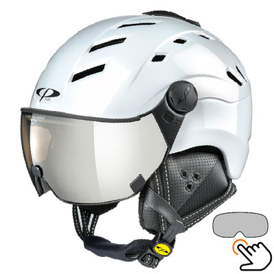 CP Camurai ski helmet white - photochrome visor - choose from 7 types !