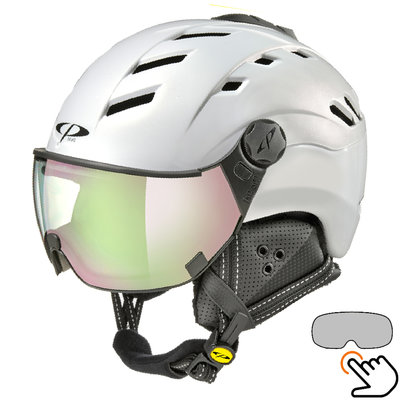 CP Camurai ski helmet white - photochrome & polarised visor - choose from 6!