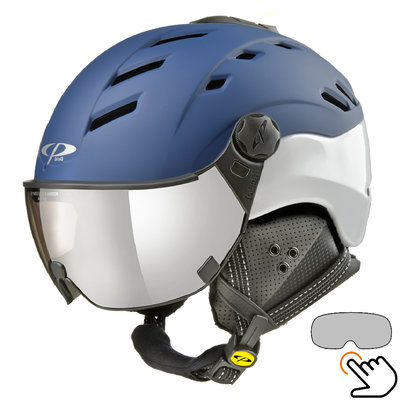 CP Camurai ski helmet blue - photochrome visor - choose from 7 types !