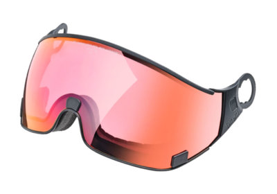 CP 28 ski helmet visor Photochromic & Polarised - Cat. 1-2 (☁/❄) dl pol vario red mirror