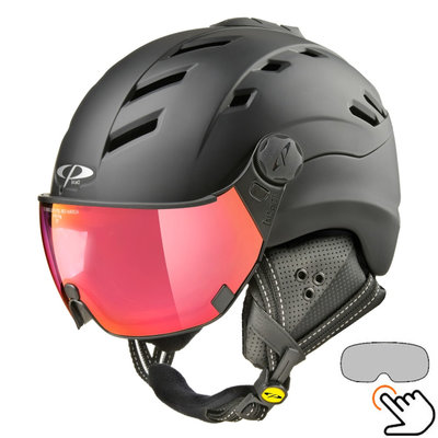 CP Camurai ski helmet black - photochrome & polarised visor - choose from 6 types !