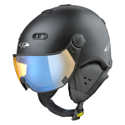 CP Carachillo black matt ski helmet - photochromic & polarised Visor (3 Choices)