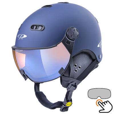 CP Carachillo blue ski helmet - photochromic & polarised Visor (3 Choices)