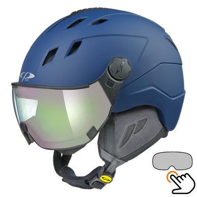 CP Corao+ ski helmet blue - photochrome visor (4 Choices) - very safe