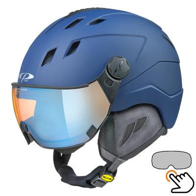 CP Corao+ ski helmet blue - photochrome & polarised visor (3 Choices) - very safe
