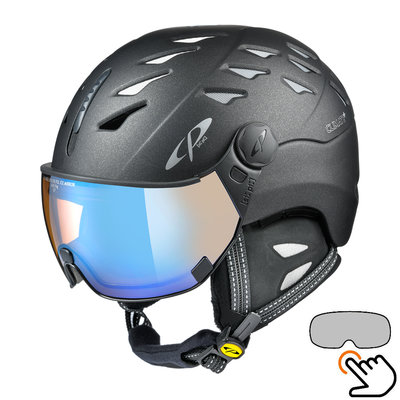 CP Cuma Cashmere ski helmet black - photochromic & polarized visor (6 Choices)