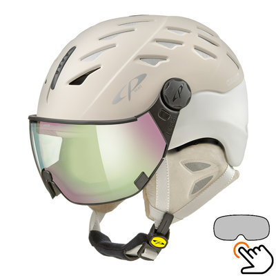 CP Cuma Cashmere ski helmet cream - photochromic & polarized visor (3 Choices)