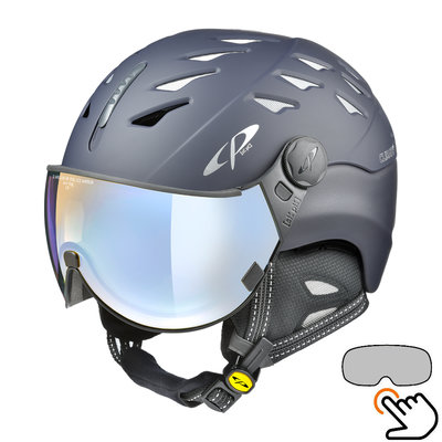 CP Cuma ski helmet blue - photochromic & polarized visor (6 Choices)