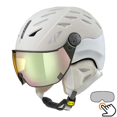 CP Cuma ski helmet creme-white - photochromic & polarized visor (3 Choices)