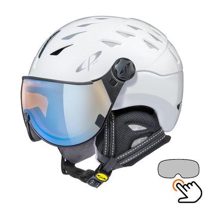 CP Cuma ski helmet white - photochromic & polarized visor (6 Choices)