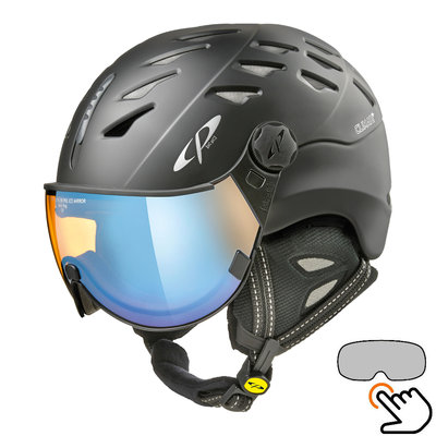 CP Cuma ski helmet black - photochromic & polarized visor (6 Choices)