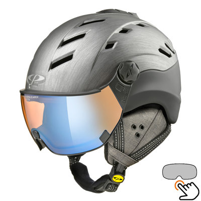CP Camurai Cubic ski helmet gray-black - photochrome & polarised visor - choose from 3 types!