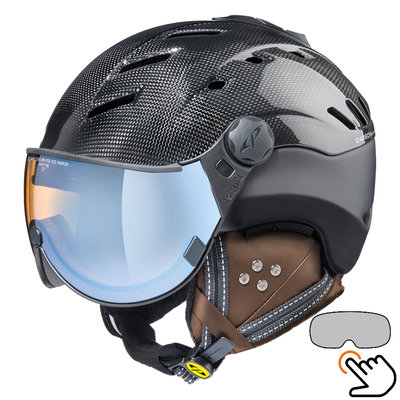 CP Camurai Carbon black ski helmet  - photochrome & polarised visor - choose from 6 types !