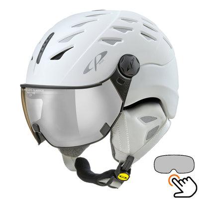 CP Cuma Cashmere ski helmet white - photochromic visor (4 Choices)