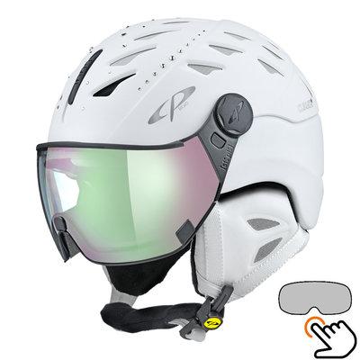 CP Cuma Swarovski ski helmet white - photochromic visor (4 Choices)