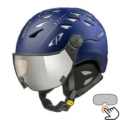 CP Cuma Swarovski ski helmet blue - photochromic visor (4 Choices)