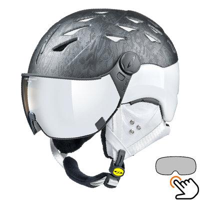 CP Cuma Cubic ski helmet white-grey - photochromic visor (4 Choices)
