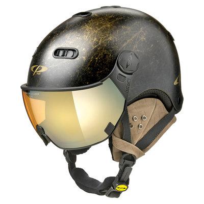 CP Carachillo Vintage black ski helmet - photochromic Visor (4 Choices)
