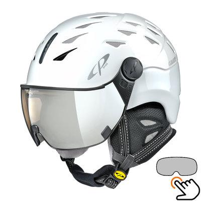 CP Cuma ski helmet white - photochromic visor (7 Choices)