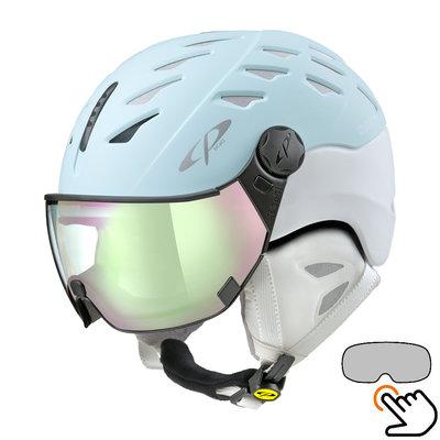 CP Cuma ski helmet blue-white - photochromic visor (7 Choices)