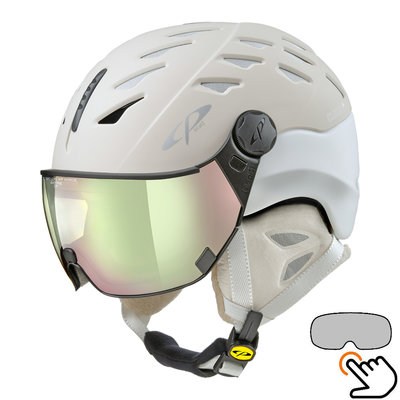 CP Cuma ski helmet creme-white - photochromic visor (4 Choices)