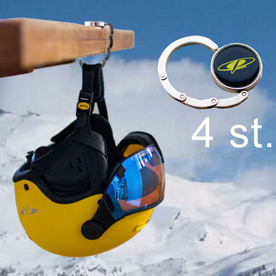 gift 3 - 4 CP ski helmet table hangers | Now you can eat normal at the table without helmets!