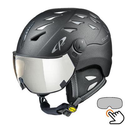 CP Cuma Cashmere ski helmet black - photochromic visor (7 Choices)