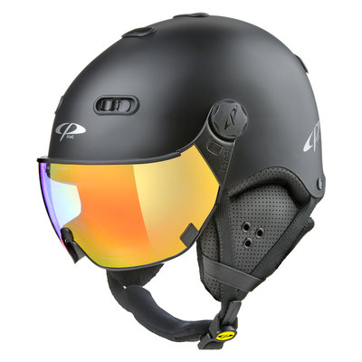 CP Carachillo ski helmet black - single mirror visor (2 Choices)