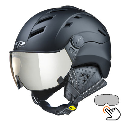 CP Camurai ski helmet black - photochrome visor - choose from 7 types !