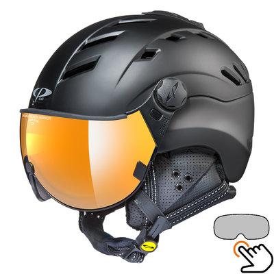CP Camurai ski helmet black - single mirror - choose from 7 types !
