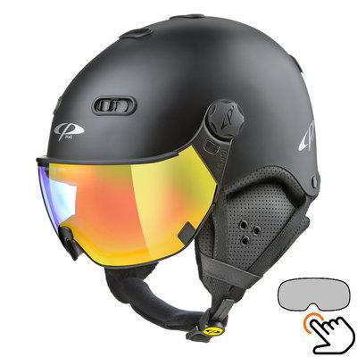 CP Carachillo black matt ski helmet - photochromic Visor (4 Choices)