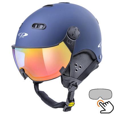 CP Carachillo blue ski helmet - photochromic Visor (4 Choices)