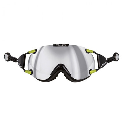 CASCO FX-70 CARBONIC SKI GOGGLE - black-neon - MIRROR CAT. 2