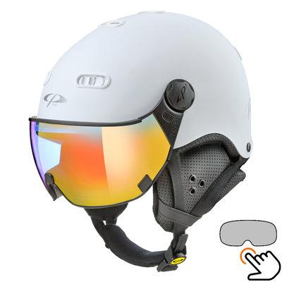 CP Carachillo ski helmet white - single mirror visor (2 Choices)