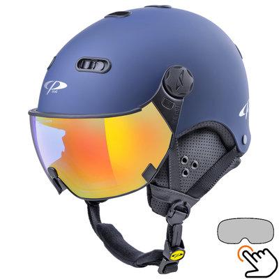 CP Carachillo ski helmet blue - single mirror visor (2 Choices)