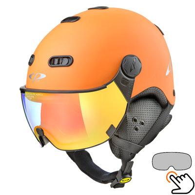 CP Carachillo ski helmet orange - single mirror visor (2 Choices)