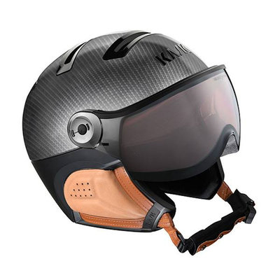 Kask Elite Carbon Brown - Ski Helmet with Visor - Photochromic Visor (☁/❄/☀) Cat.1-2